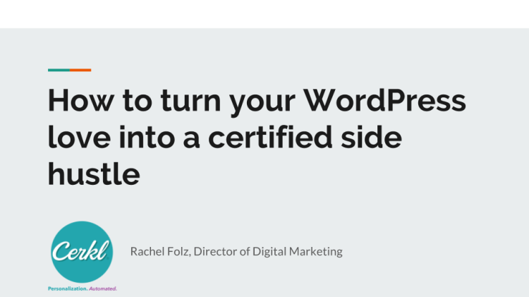 How to turn your WP love into a certified side hustle